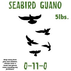 5lbs. Seabird Guano 0-11-0