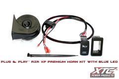 HORN-RZRXP-PREMIUM with Lit Blue LED Carling Switch for RZR XP900/1000 Horn Kit 2014 Up