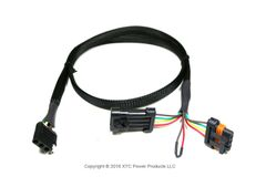 Polaris General Plug & Play Trailer Light Adapter. OEM Connector to 4 Flat Molded Connector & License Plate Power