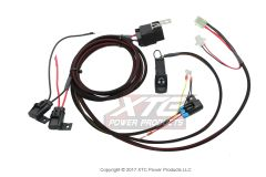 RZR XP Radio - Intercom Plug & Play Relayed Wire Harness with Triple Fuse Power Protection