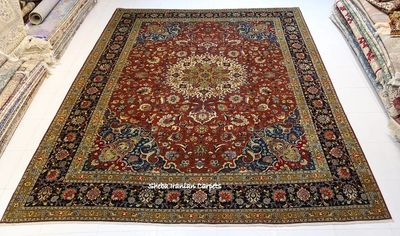 Tabriz wool and silk Persian rug