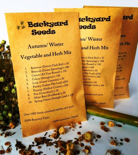 Autumn/ Winter Vegetable and Herb Mix (10 Varieties)
