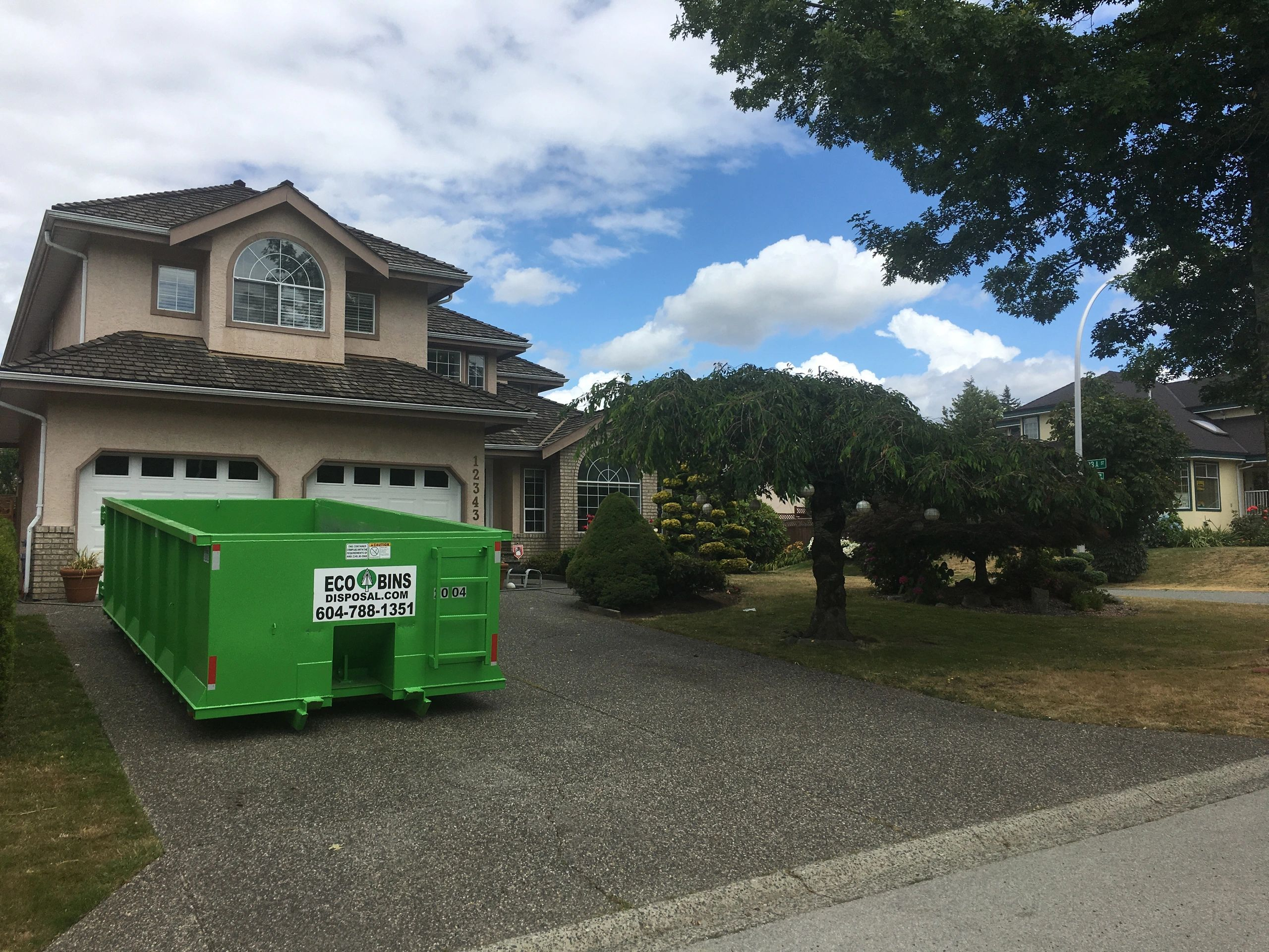 20 yard Bin rental in Surrey Junk removal in White Rock Estate Clean outs in South Surrey