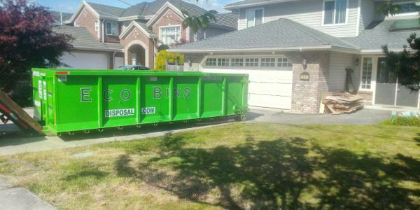 Richmond Bin Rental  20 yard Bin rental New Westminster  Eco Bins Disposal 20 yard roll off bin