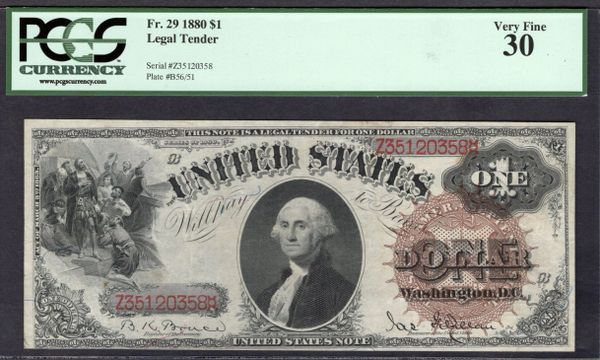 1880 $1 Legal Tender PCGS 30 Fr.29 Item #80408891