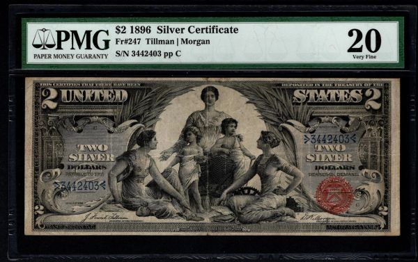 1896 $2 Silver Certificate Educational Note PMG 20 Fr.247 Item #5013536-005