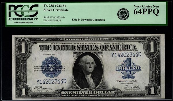 1923 $1 Silver Certificate PCGS 64 PPQ Fr.238 Item #80582310