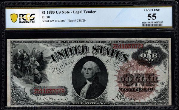 1880 $1 Legal Tender PCGS 55 Fr.30 Item #39207857