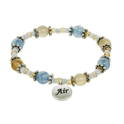 Air Element Beaded Stretch Bracelet