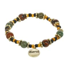 Earth Element Beaded Stretch Bracelet