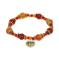 Fire Element Beaded Stretch Bracelet