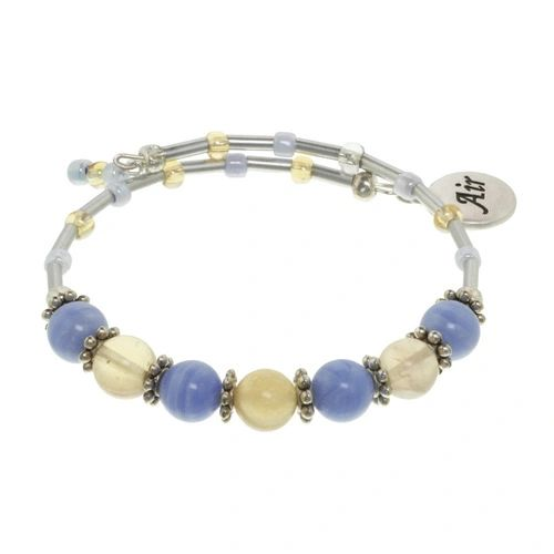 Air Element Cluster Beaded Bracelet