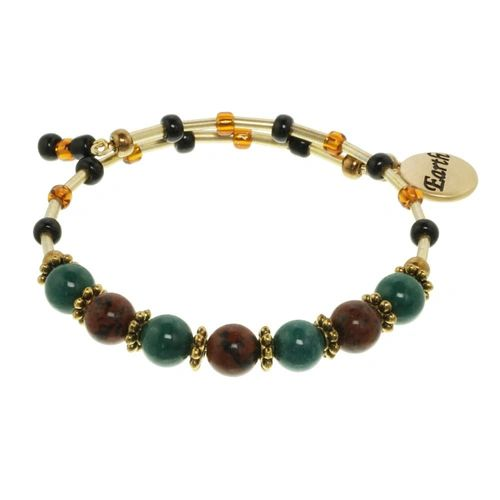 Earth Element Cluster Beaded Bracelet