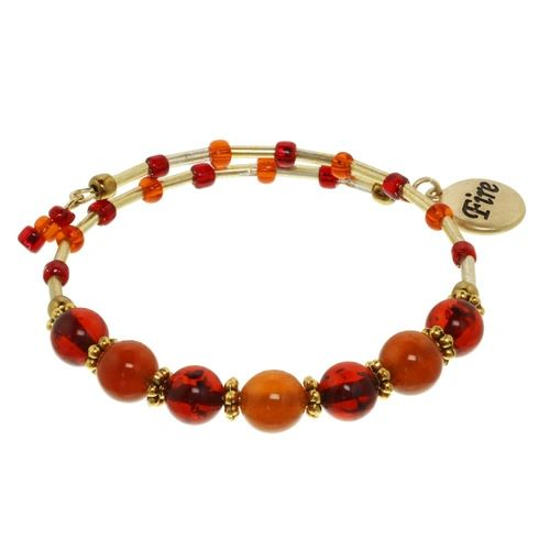 Fire Element Cluster Beaded Bracelet