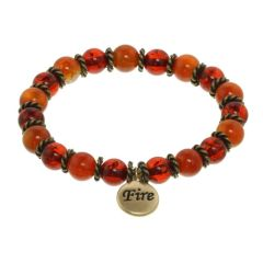 Fire Element Stretch Beaded Bracelet