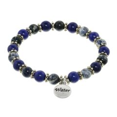 Water Element Stretch Beaded Bracelet