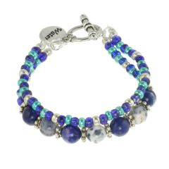 Water Element Double Strand Toggle Bracelet