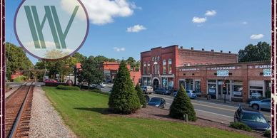 A picture of our CEO's hometown--Waxhaw, North Carolina.  Downtown is shown.