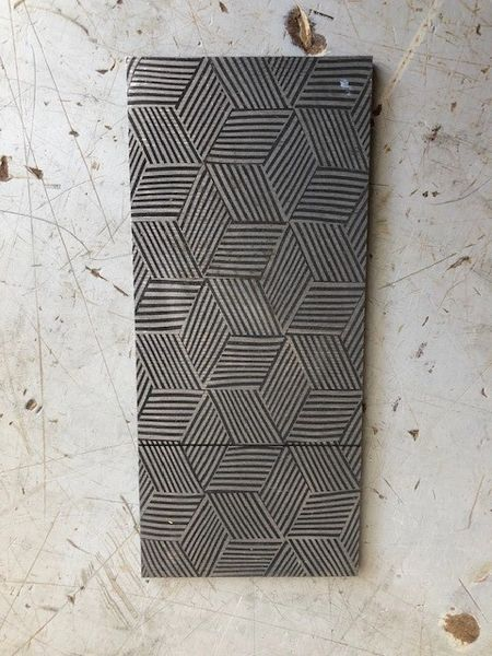 ".149"" x 2.125"" x 5.875"" Mosaic Stainless Damascus"