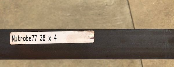 ".125"" x 1.49"" x 39"" Nitrobe 77 Damasteel Blade Steel"
