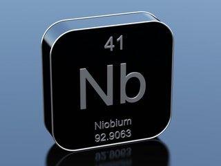 """1"""" dia x per inch Niobium Ty2 Round Bar"""