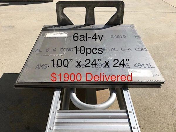 """10pcs .100"""" x 24"""" x 24"""" 6Al-4V Titanium Sheet"""