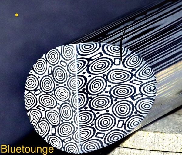 "13mm (.511"") dia x 12"" Bluetounge Damasteel Round Bar"