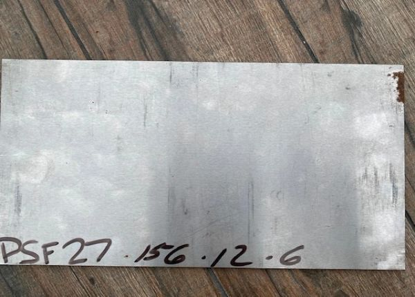 ".156"" x 12"" x 6"" PSF27 Blade Steel Ground Finish"