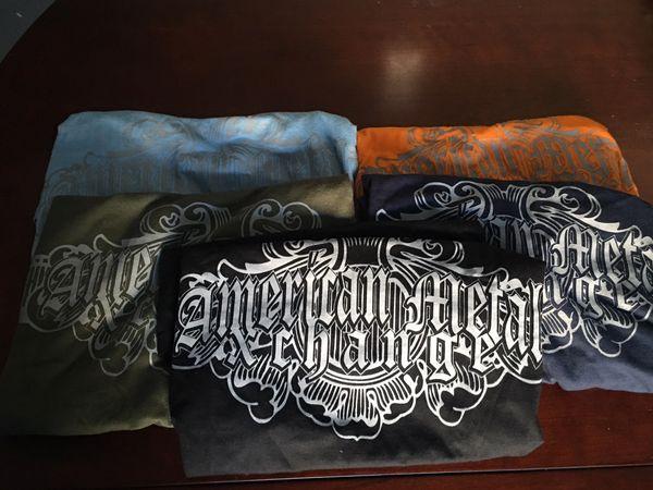 American Metal Xchange Green Cotton Spun Shirt