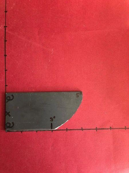 """.215"""" x 2"""" x 3.5"""" Stellite 6K Blade Steel"""