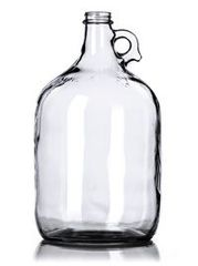 1 gallon Moon Shine Jugs - Clear Glass 1 gal jugs with white screw top