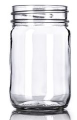 12 oz mason jars clear glass - 12 ounce - 12 per case