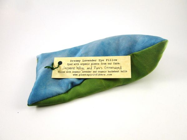 Dreamy Lavender Eye Pillow Dyed With Japanese Indigo And