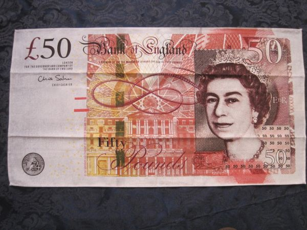 50 Pound Note Tea Towel