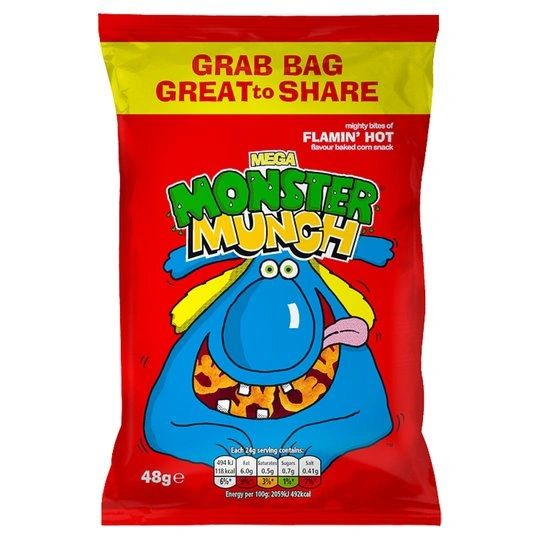 Walker's Flamin' Hot Monster Munch (40G)