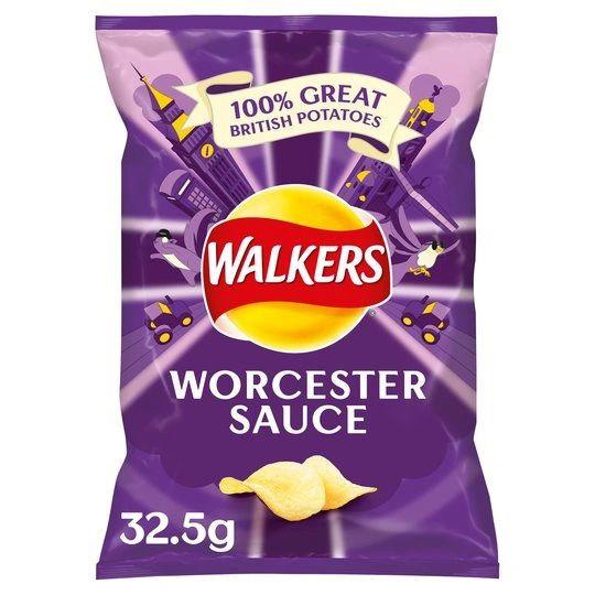 Walkers Worcester Sauce Crisps (32.5G)