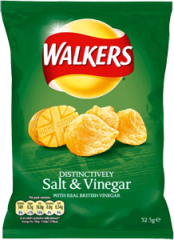 Case of Walkers Salt & vinegar (32.5g / 1.1oz) X 32