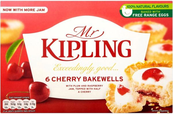Mr Kipling Cherry Bakewells 6s