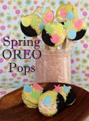 Spring Oreo Pops
