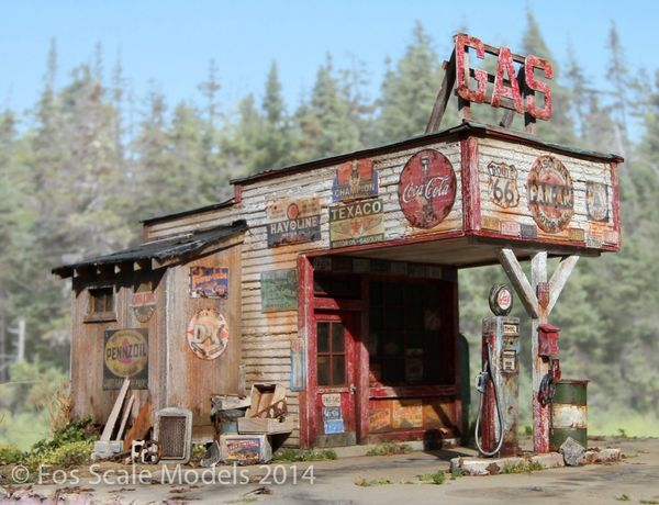 The Gas Station - O Scale/ 1:48 / On30
