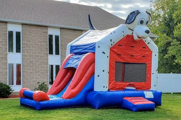 Dalmatian Themed Bounce House with Slide dog puppy pet animal party