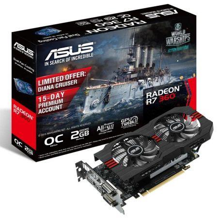 ASUS Radeon R7 360 2GB GDDR5 R7360-OC-2GD5