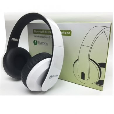 iBUCKS Bluetooth Headset w/NFC Function - White
