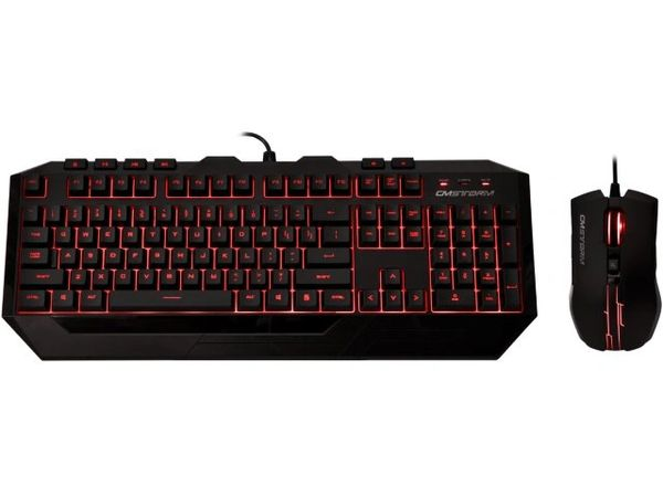 Cooler Master CM Storm Devastator MS2K & MB24 Wired LED Backlighting Gaming Keyboard and Mouse Combo (Red LED)