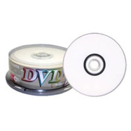 RiDATA DVD-R 4X 8.5GB Dual Layer White Inkjet Printable Spindle 25 Packs (DRD-85-RDIW-CB25)