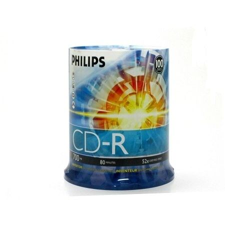 Philips CD-R 52X 80min Cake Box 100Packs(D52N650)