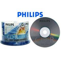 Philips CD-R 52X 80min 700MB Full Logo Cake box 50 Packs (D52N600)