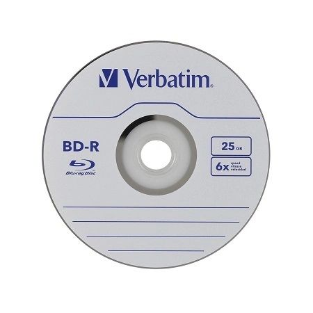 Verbatim 25 GB 6x Blu-ray Single Layer Recordable Disc BD-R, 25-Disc Spindle