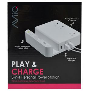 AViiQ Play & Charge 3-In-1 Personal Power Station AV-SP3U-P334O3W0
