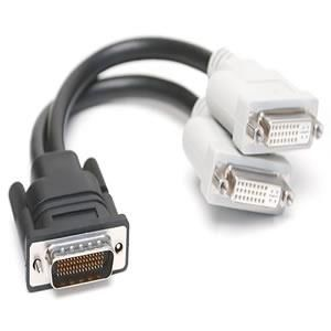 DMS-59 Male to 2 DVI-D Female Dongle